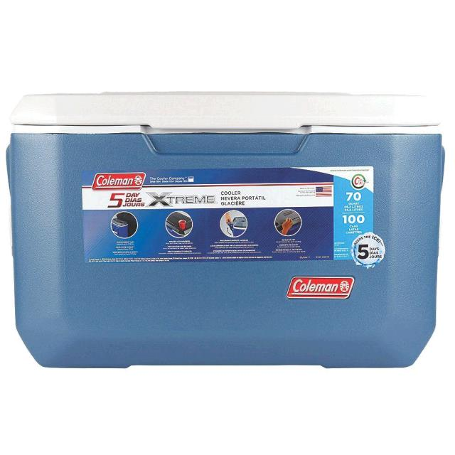 Where to find COOLER, BLUE 70 QT. in Sterling