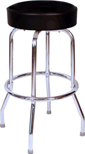 Where to find STOOL, SWIVEL 30  BLACK   CHROME in Sterling