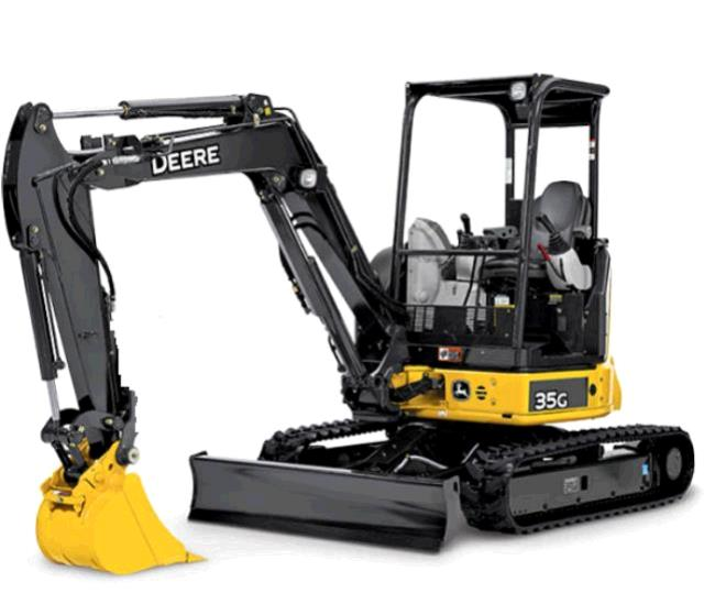 Where to find EXCAVATOR, MINI 11  4   JD35G  OPEN ROPS in Sterling
